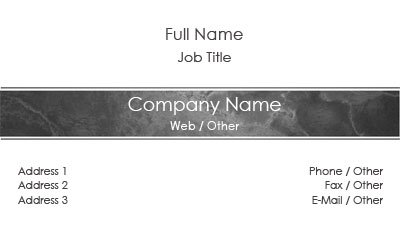 Grey Stone Bar Business Card Template
